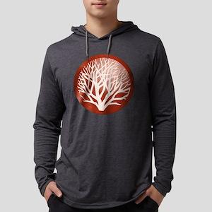treecircle_red Mens Hooded Shirt