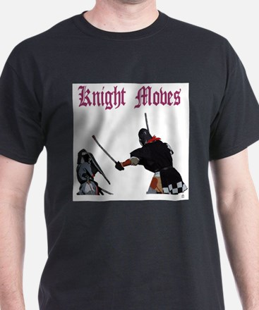 Knight Moves Black T-Shirt