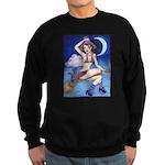 Witch on Broom Sweatshirt (dark)