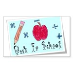 Back To School Sticker (Rectangle 10 pk)