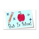 Back To School Rectangle Car Magnet