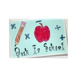 Back To School Rectangle Magnet (100 pack)