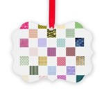 Rainbow Quilt Picture Ornament