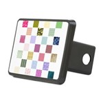Rainbow Quilt Rectangular Hitch Cover