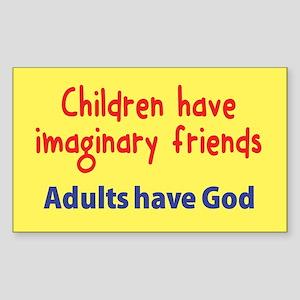 Children Have Imaginary Friends Sticker (Rectangle