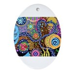 Abstract Colorful Tribal art Celebration Ornament