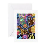 Abstract Colorful Tribal art Celebration Greeting