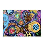 Abstract Colorful Tribal art Celebration Postcards