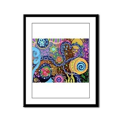 Abstract Colorful Tribal art Celebration Framed Pa