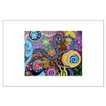 Abstract Colorful Tribal art Celebration Large Pos