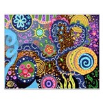 Abstract Colorful Tribal art Celebration Small Pos
