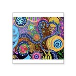 Abstract Colorful Tribal art Celebration Square St