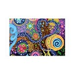 Abstract Colorful Tribal art Celebration 35x21 Wal