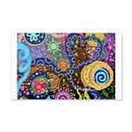 Abstract Colorful Tribal art Celebration 20x12 Wal