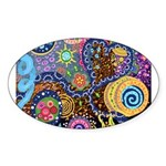 Abstract Colorful Tribal art Celebration Sticker (
