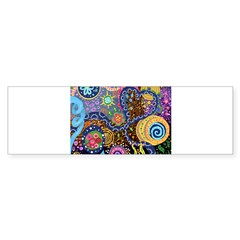 Abstract Colorful Tribal art Celebration Bumper Sticker