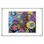Abstract Colorful Tribal art Celebration Banner