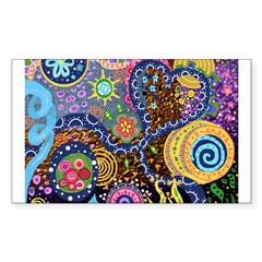 Abstract Colorful Tribal art Celebration Decal