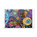 Abstract Colorful Tribal art Celebration Rectangle