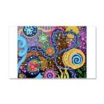 Abstract Colorful Tribal art Celebration Car Magne