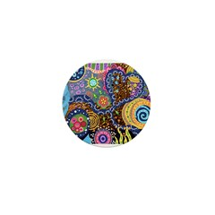 Abstract Colorful Tribal art Celebration Mini Butt