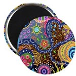 Abstract Colorful Tribal art Celebration Magnet