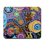 Abstract Colorful Tribal art Celebration Mousepad