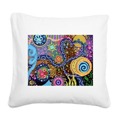 Abstract Colorful Tribal art Celebration Square Ca