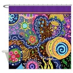 Abstract Colorful Tribal art Celebration Shower Cu