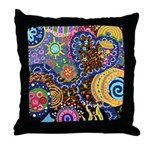 Abstract Colorful Tribal art Celebration Throw Pil