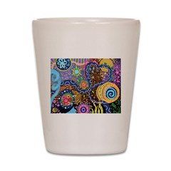 Abstract Colorful Tribal art Celebration Shot Glas