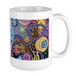 Abstract Colorful Tribal art Celebration Large Mug
