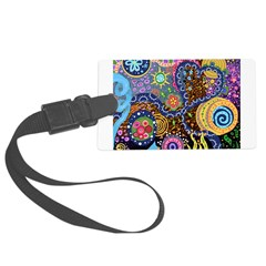 Abstract Colorful Tribal art Celebration Luggage Tag