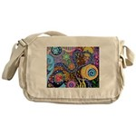 Abstract Colorful Tribal art Celebration Messenger