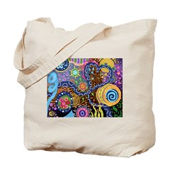 Abstract Colorful Tribal art Celebration Tote Bag