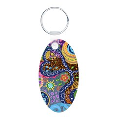 Abstract Colorful Tribal art Celebration Keychains