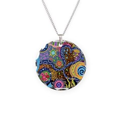 Abstract Colorful Tribal art Celebration Necklace