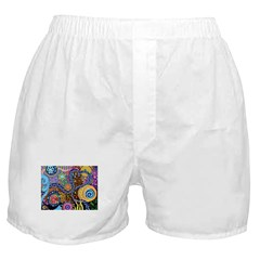 Abstract Colorful Tribal art Celebration Boxer Sho