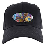 Abstract Colorful Tribal art Celebration Black Cap