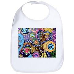Abstract Colorful Tribal art Celebration Bib