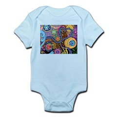 Abstract Colorful Tribal art Celebration Infant Bo