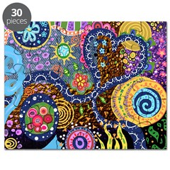 Abstract Colorful Tribal art Celebration Puzzle