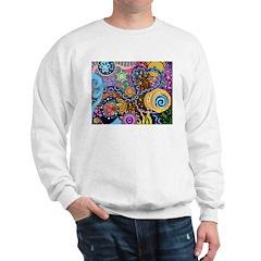 Abstract Colorful Tribal art Celebration Sweatshir
