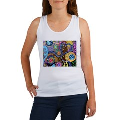Abstract Colorful Tribal art Celebration Women's T