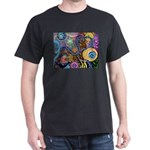 Abstract Colorful Tribal art Celebration Dark T-Sh
