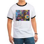 Abstract Colorful Tribal art Celebration Ringer T