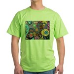 Abstract Colorful Tribal art Celebration Green T-S