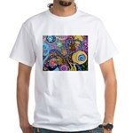 Abstract Colorful Tribal art Celebration White T-S