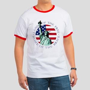Statue of Liberty American Flag Shirt
