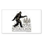 Sasquatch Gone Squatchin Sticker (Rectangle 10 pk)